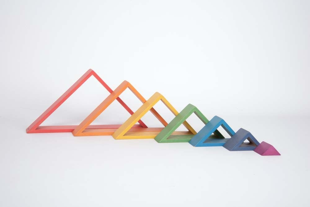 Rainbow Architect Triangles - Pack of 7
