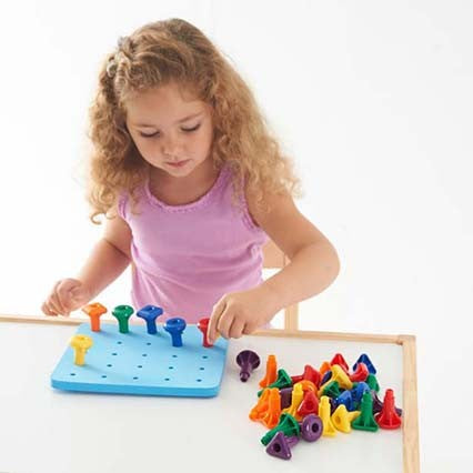 Giant Pegs and Pegboard Set