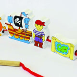 Pirates Lacing Blocks - Pack of 12