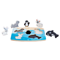 Hape Polar Animal Tactile Puzzle
