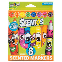 Scentos Funny Face Markers - 8 Pack