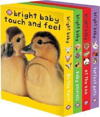 Bright Baby Touch & Feel Boxed Set : On the Farm, Baby Animals, at the Zoo and Perfect Pets