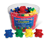 The Original Three Bear Family® Basic Four Colour Counter Set (Set of 80)