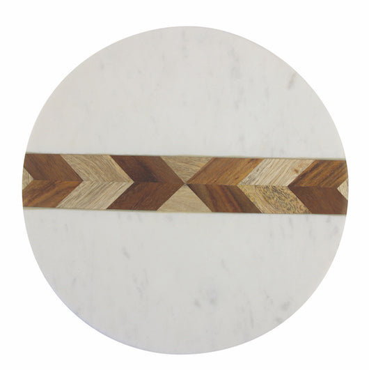 Marble and Acaia Round Board