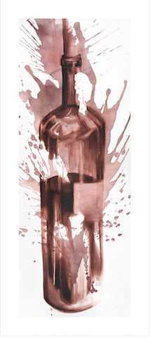 Bursting Bottle Wine Art