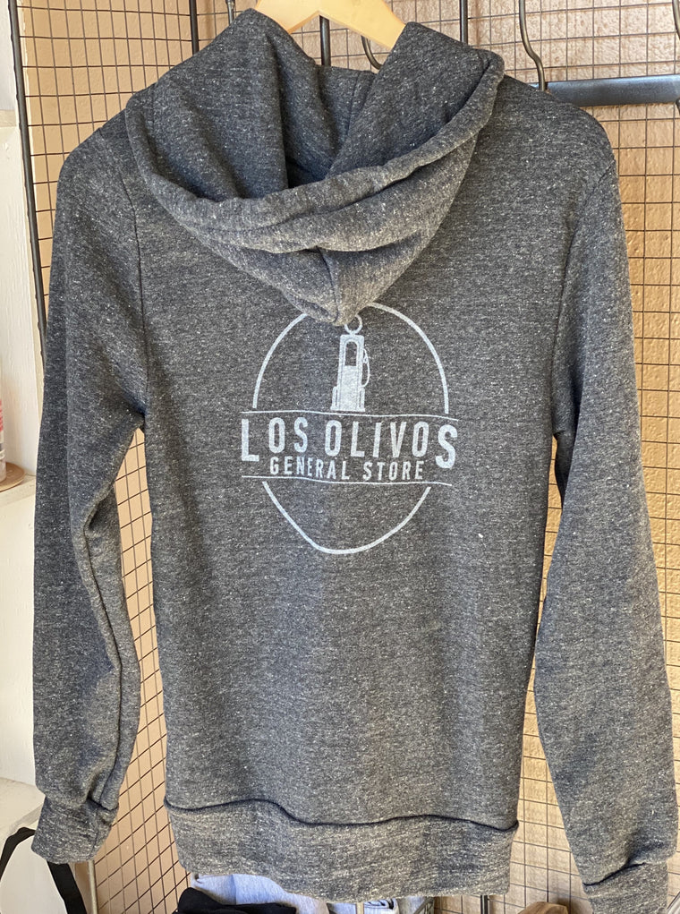 Los Olivos General Store Zip Hoodie Charcoal Grey