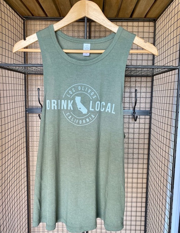 Drink Local Tank Green