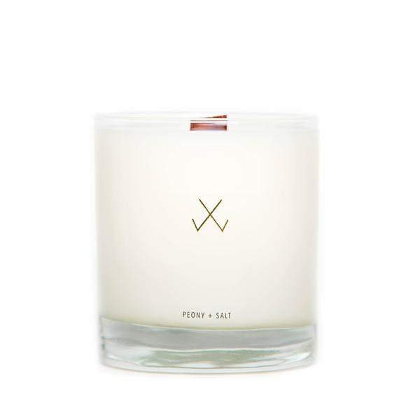 Simply Curated Candle Peony and Salt