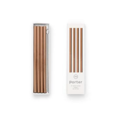"Porter Straw 5"" Copper"