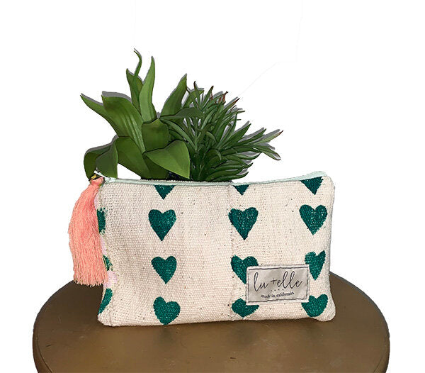 Heart Pouch Green