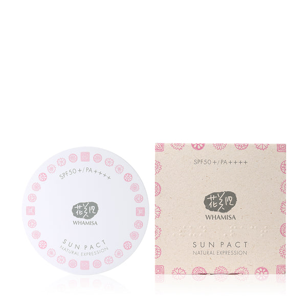 Whamisa Organic Flowers Sun Pact SPF50 - Natural Expression