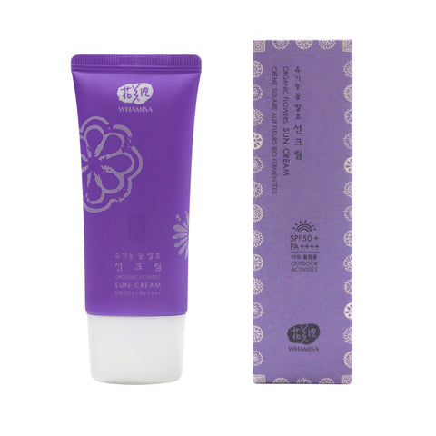 NEW - Organic Flowers Sun Cream SPF 50