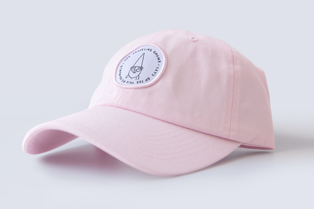 """Traveling Gnome"" Hat - Pink"