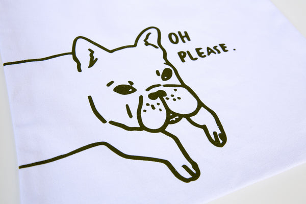 """Frenchie: Oh Please"" Tote"