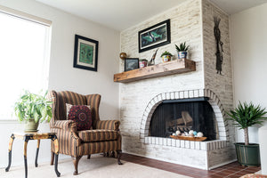 A Fireplace Transformation Without Laying a Brick