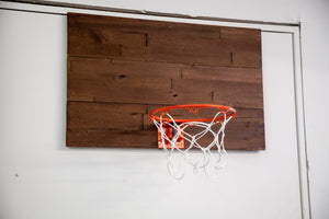 DIY: Rustic Indoor Basketball Hoop