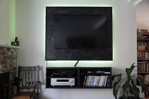 Change the Channel on this Flatscreen with a mywoodwall™ Install