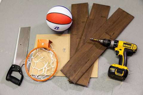 Rustic Basket Ball Hoop Wood Panels
