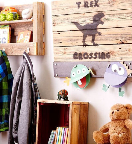 Kids Room Decor Wood Wall