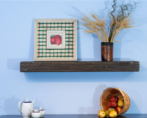 Anthracite Floating Mantel Shelf - 4' Wood Paneling  - mywoodwallus