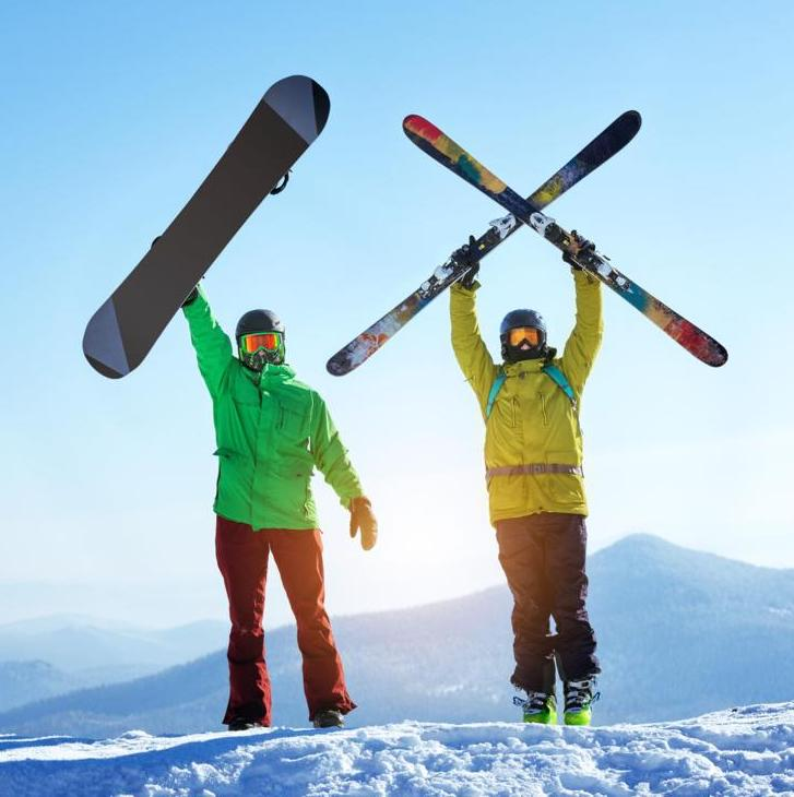 Skiing vs. Snowboarding - The Definitive Guide