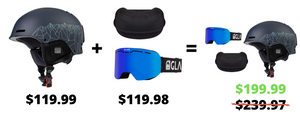 Tenmile Helmet, Challenger Goggle, and Hard Case Bundle