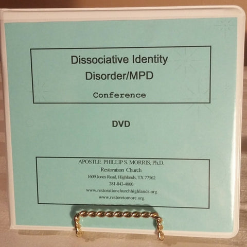 Disassociative Identity Disorder/MPD Conference DVD (BLUERAY) 4 Set