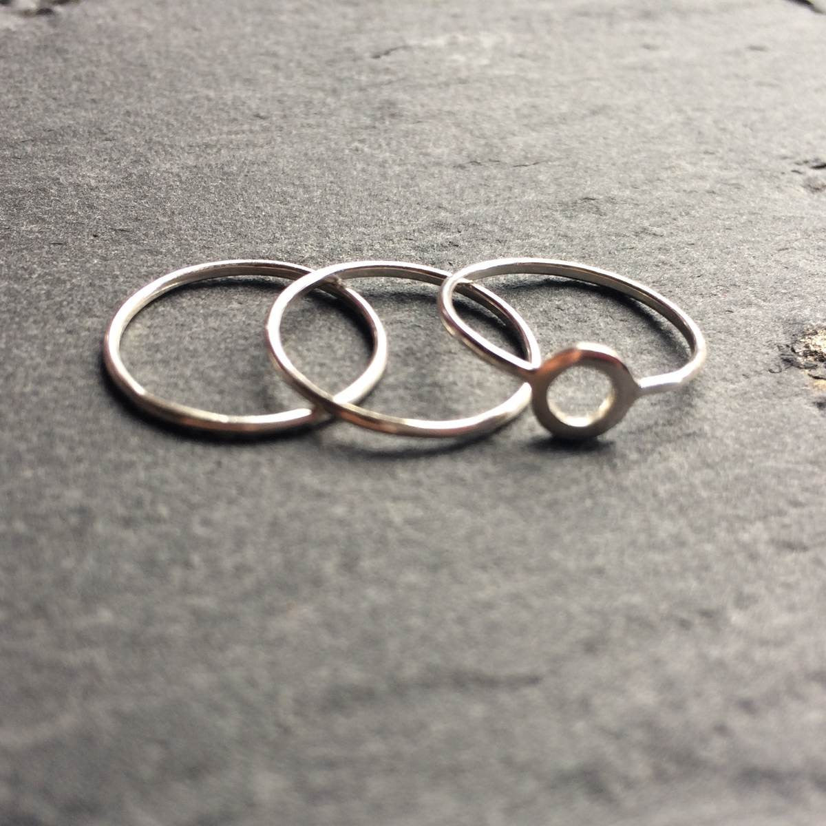 Set of 3 circle knuckle rings