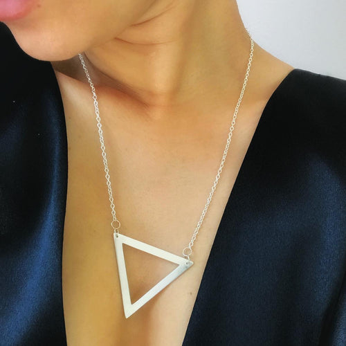 Large triangle necklace