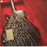 Signed Guitar with Handwritten Song Lyrics