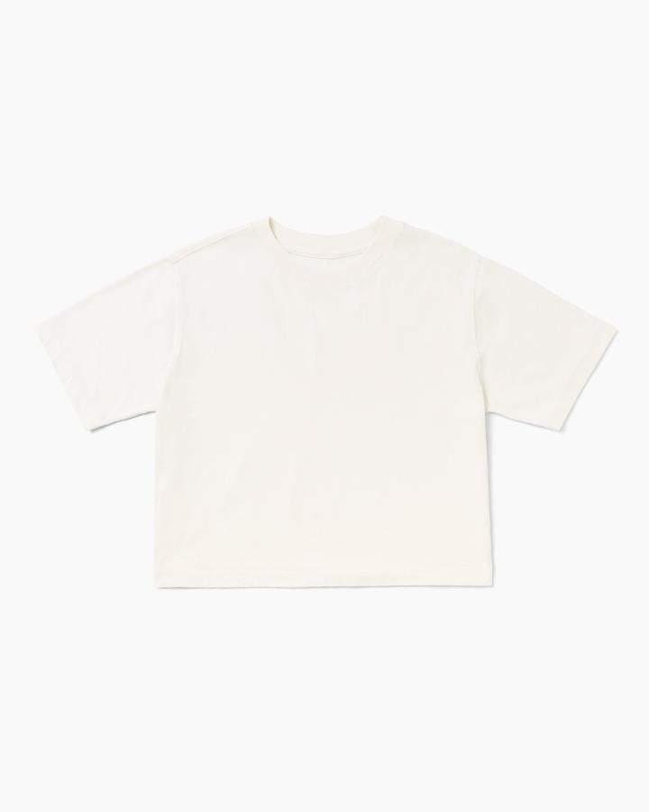 Richer Poorer Relaxed Crop Bone Tee