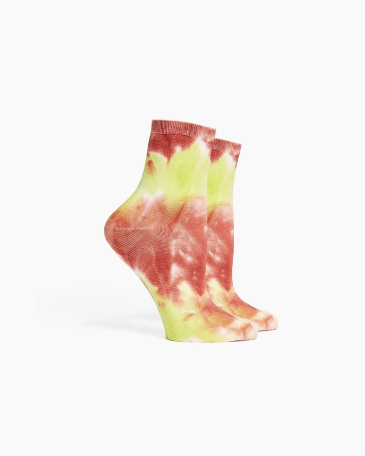 Richer Poorer Psych Neo Lime Socks