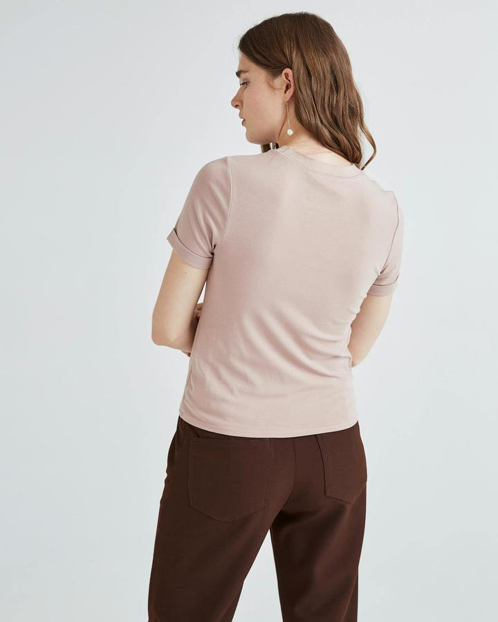 Richer Poorer Soft Mauve Fitted Tee