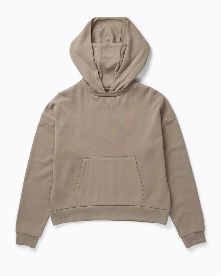 Richer Poorer Warm Grey Recycled Fleece Hoodie