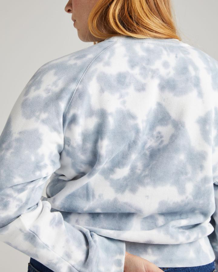 Richer Poorer Blue Mirage Tie Dye Recycled Fleece Sweatshirt