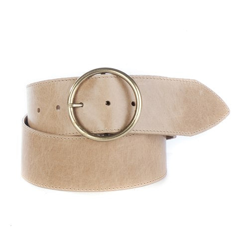Brave Leather Julija Circle Buckle Leather Belt