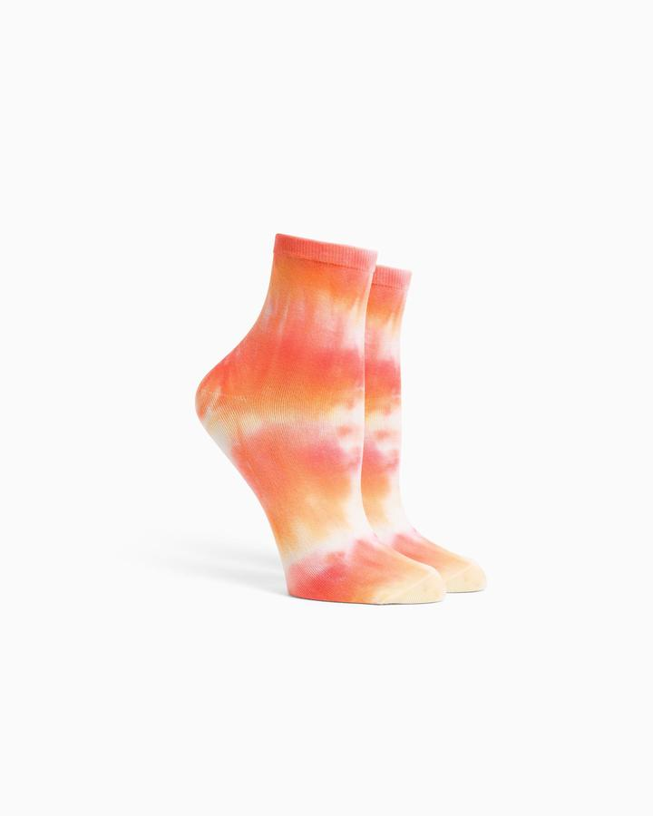 Richer Poorer Shibori Flamingo Socks
