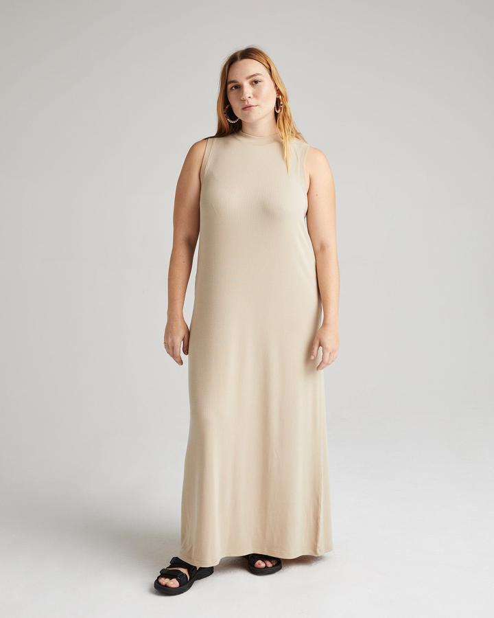 Richer Poorer Sandstorm Vintage Rib Column Dress