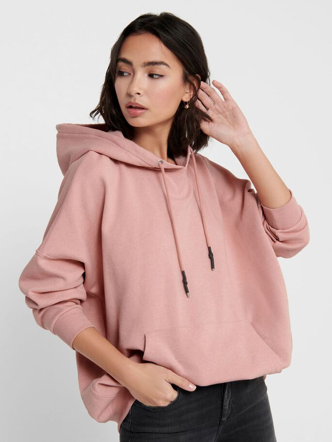 ONLY Dove Oversized Rose Tan Sweatshirt