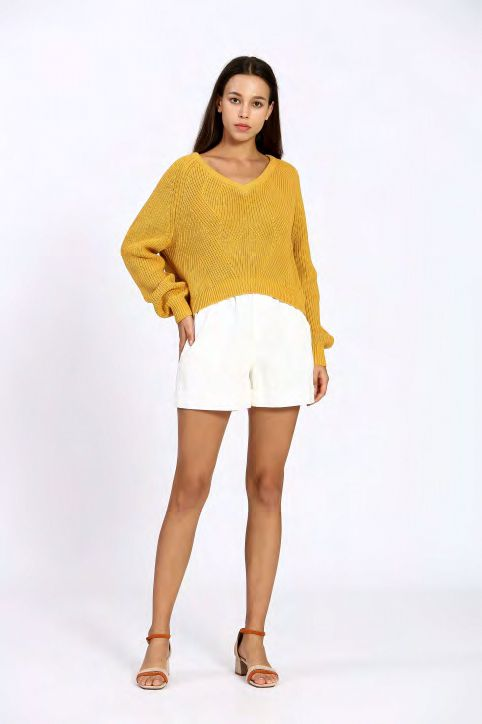 The Korner Yellow Knit Sweater