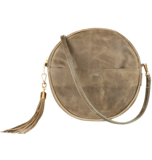 Brave Leather Fausset Circle Bag in Sable