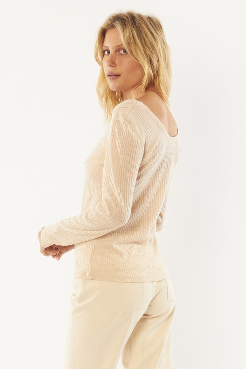 Amuse Society Rosewater Long Sleeve Knit Top