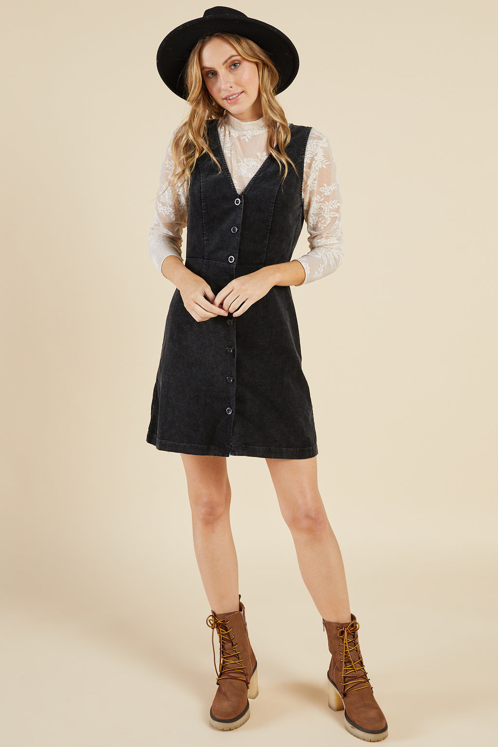 Sadie & Sage Kaycie Washed Cord Dress