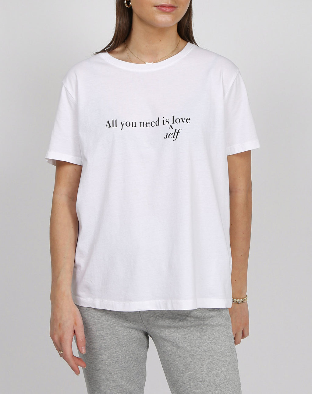 "Brunette the Label The ""ALL YOU NEED"" Classic Crew Neck Tee"