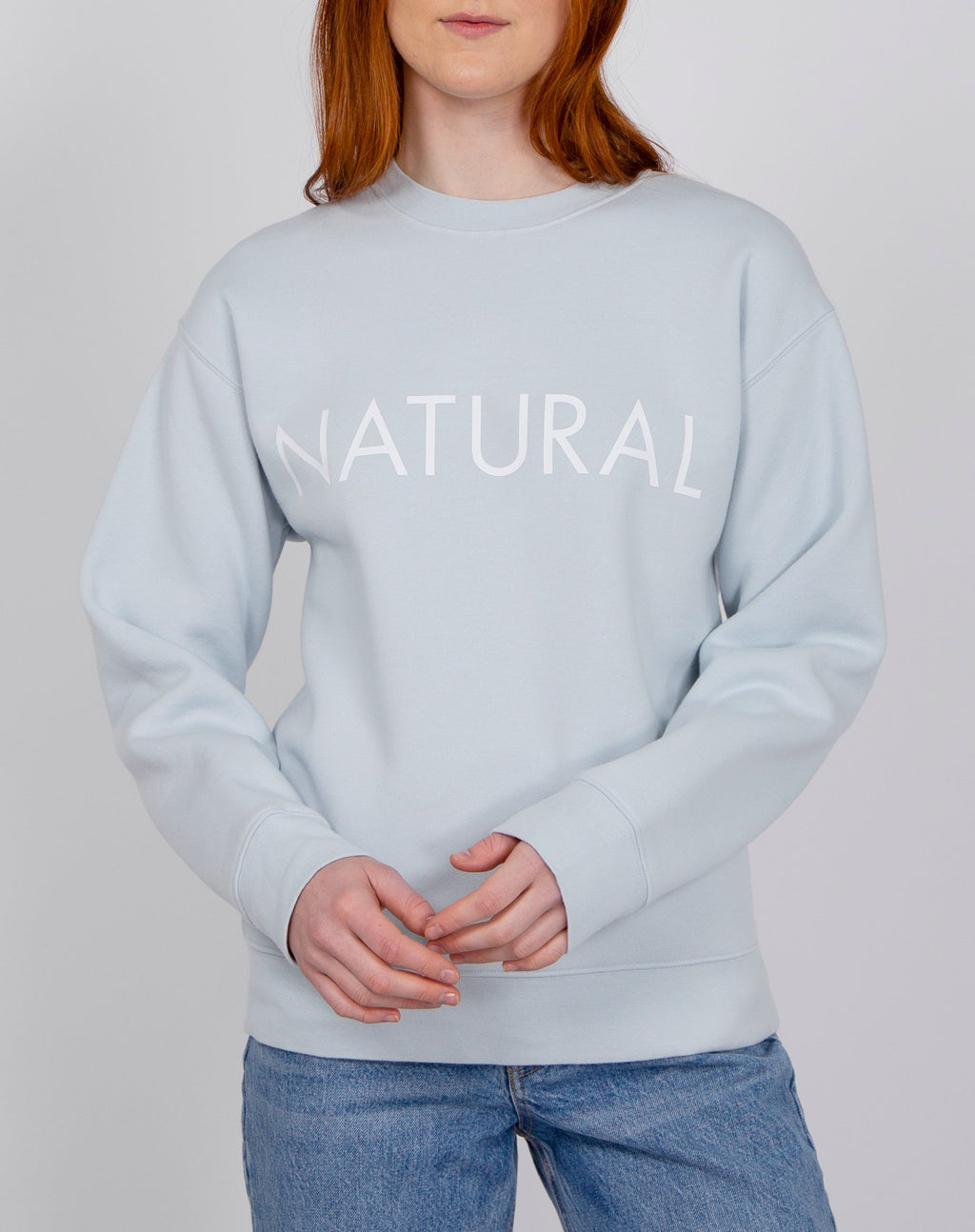 "Brunette the Label ""NATURAL"" Core Crew Summer Sky"