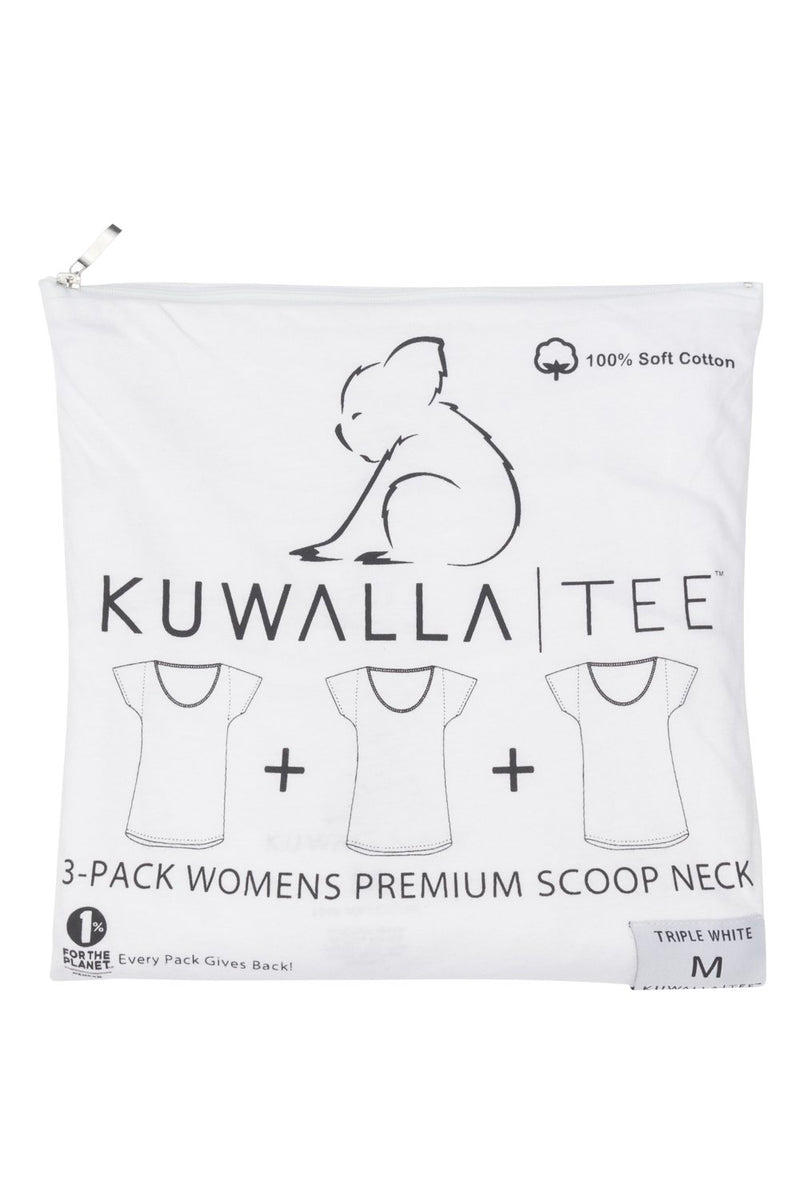 Kuwalla 3-Pack White Tees