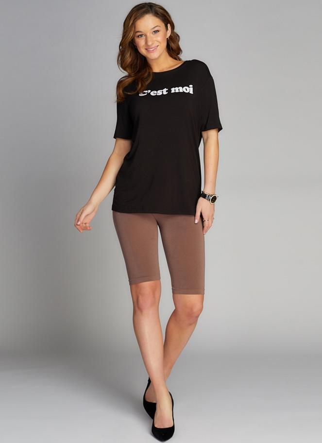 C'est Moi Mocha High Waisted Long Shorts