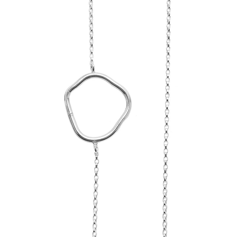 Kara Yoo Silver Freeform Necklace