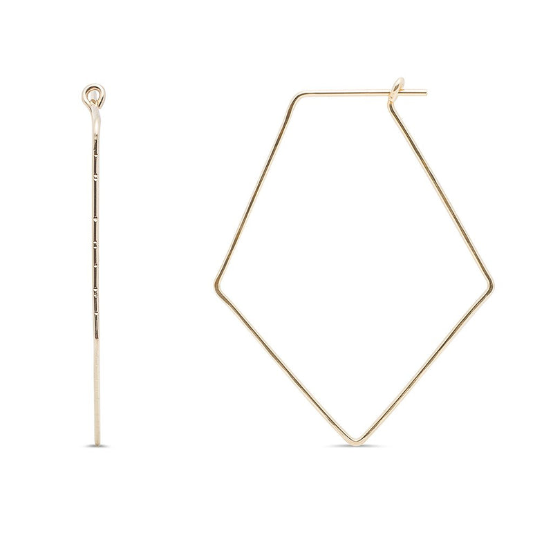 Kara Yoo Gold Pull-Me-Through Diamond Hoop
