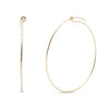 Kara Yoo Pull-Me-Through Large Gold Round Hoops